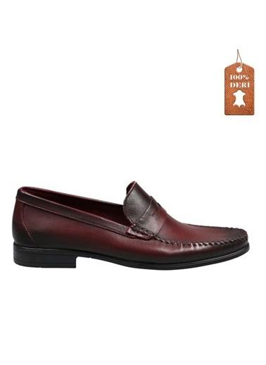 Hammer Jack Yahir Hakiki Deri Antik Erkek Ayakkabı 137 7003-M Bordo